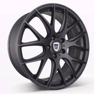 1X 19 INCH MATT BLACK Wheels suits Commodore,BMW3, Falcon & MORE