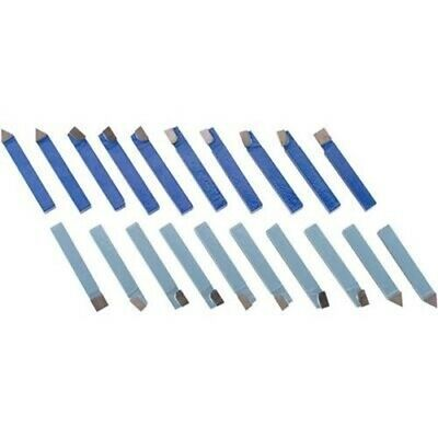 20 Pc 12 Carbide Tip Tipped Cutter Tool Bit Cutting Set For Metal Lathe Tool