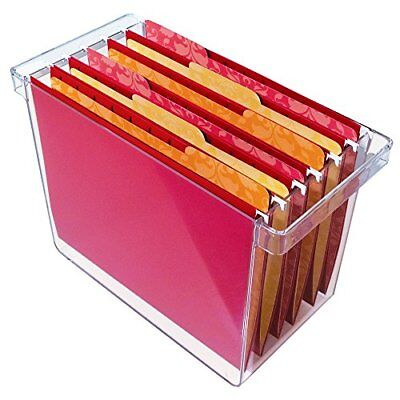 New Clear Plastic Hanging File Organizer Holds 8.5 X 11 Hanging File Folders