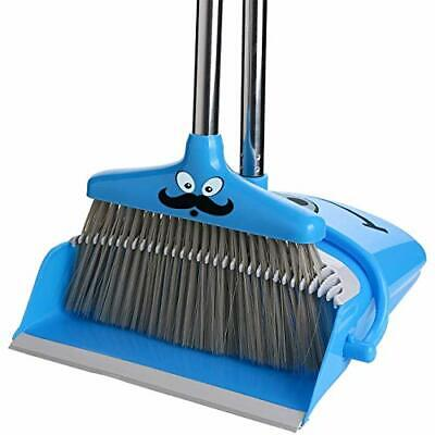 Broom and Dustpan Set Self Cleaning Bristles Broom and Dust Pan Combo