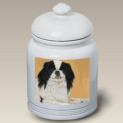 Japanese Chin Black & White Treat Jar