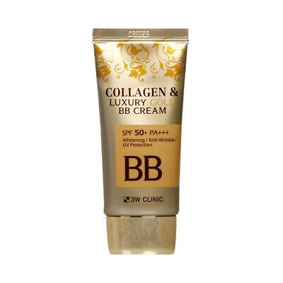 [3W CLINIC] Collagen & Luxury Gold BB Cream - 50ml (SPF50+ PA+++) / Free Gift Gold Bb