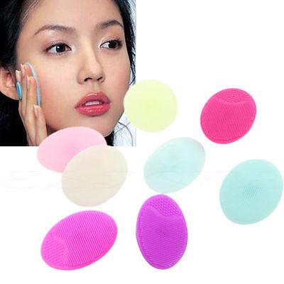 1 pcs Silicone Facial Cleansing Blackhead Remover Pad Brush Scrub Tool Massage