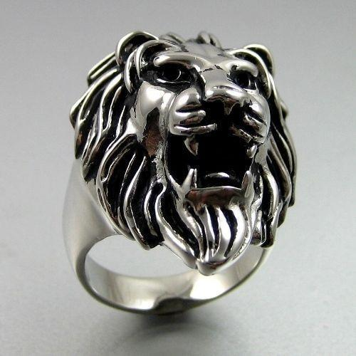 Silver lion ring ebay for Do pawn shops buy stainless steel jewelry