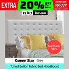 Queen Grey Fabric Headboards & Footboards for Beds
