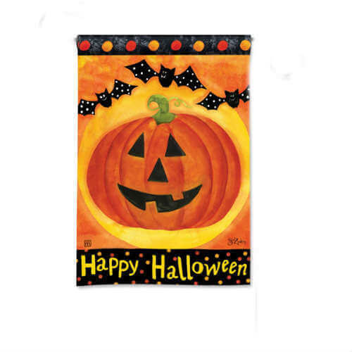 halloween garden flag jack and friends