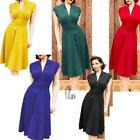 Retro Regular Size Wrap Dresses