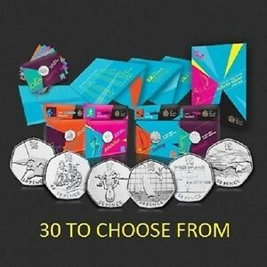 Royal-Mint-London-2012-Olympic-50p-Sport-Completer-Medallion-full-set-30-coins