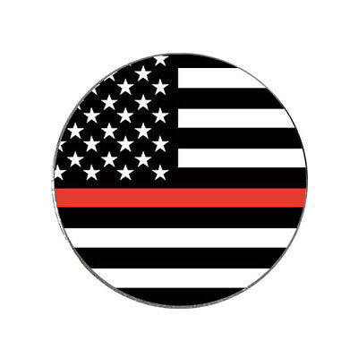Firefighter Golf Accessories (US Flag Thin Red Line Thinredline Golf Ball Marker Firefighters)