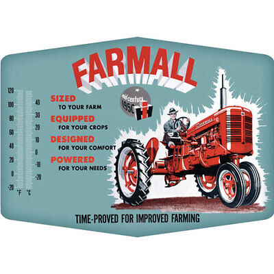 FARMALL 90149623 OPEN ROAD BRANDS THERMOMETER SIGN IMPROVED EMB TIN