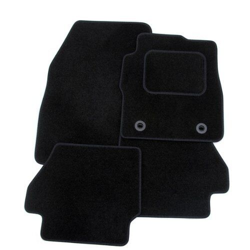 JAGUAR XF 2008-2014 TAILORED CAR FLOOR MATS- BLACK WITH BLACK TRIM