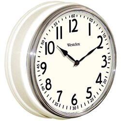Westclox 32041W Round Vintage Kitchen Classic Clock 12-Inch White