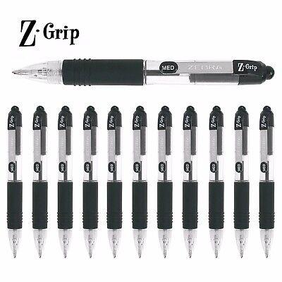Zebra Z-Grip Mini Retractable Ballpoint Pens - Black Ink - Pack of 12