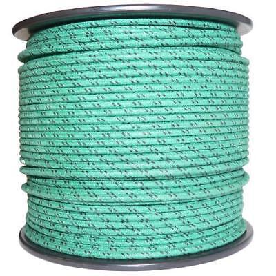 1M Algodón Trenzado Automotive Eléctrico Cable 18 Calibre Verde y Negra Mancha