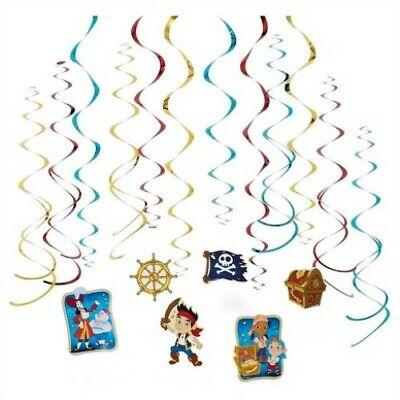 Jake Never land Pirates Hanging Swirls Decoration Birthday Party Supplies - Pirate Birthday Party Supplies