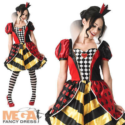 Sassy Red Queen Ladies Fancy Dress Alice in Wonderland Book Week Adults (Sassy Alice Kostüme)