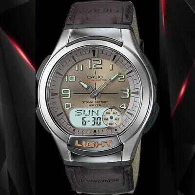 Casio AQ-180WB-5 Mens Analog Digital Sports Databank Watch LED World Time New