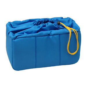 NEW-HORUSBENNU-HD-331916-Blue-Camera-Lens-Insert-Partition-Padded-Bag-Case