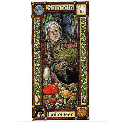 SAMHAIN FESTIVAL GREETING CARD 31st Oct Halloween PAGAN CELTIC HEDINGHAM FAIR (Halloween Celtic Festival)