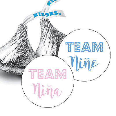 108 Team Nino OR Team Nina? GENDER REVEAL BABY HERSHEY KISS CANDY - Gender Reveal Stickers