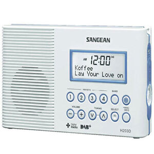 Sangean-Waterproof-DAB-FM-RDS-Portable-Digital-Radio-Model-H203D-Brand-New