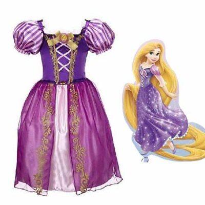 Märchen Age Prinzessin Kleid Tangled Rapunzel Kleid Fancy Kostüme Lot  3-9 Y