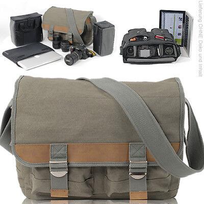 NEU Canvas Fototasche CULLMANN DSLR Kamera Video DARWIN 425+ Laptop Tasche BEIGE