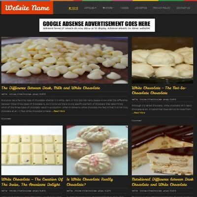 Chocolate Store - Business Website For Sale Mobile Friendly Responsive Design