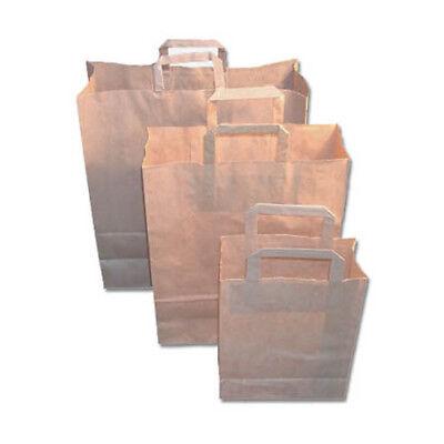 500 Papier - Tragetaschen, braun, 18+8x22cm, Papiertragetaschen