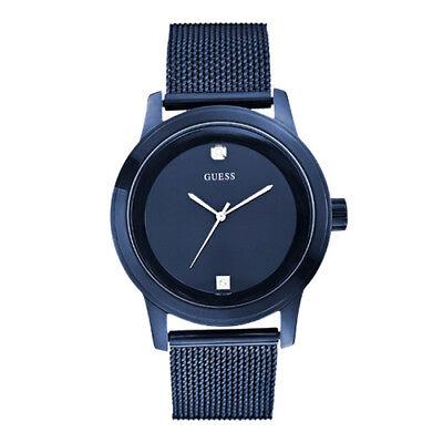 GUESS Men's  U0297G2 Stainless Steel Diamond Dial Mesh Bracelet Watch
