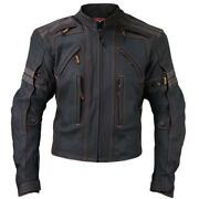 Mens Leather Jacket 2X