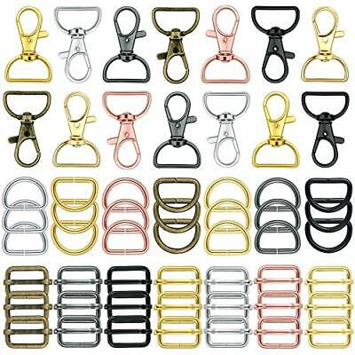 56 Pieces Keychain Hooks with D Rings Set Purse Hardware for Bag Making Lanya...