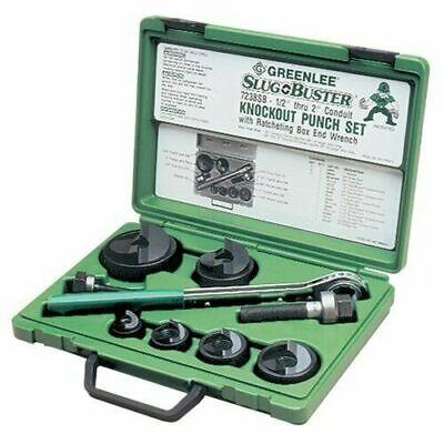 Greenlee 7238sb Slug-buster Knockout Kit With Ratchet Wrench 12 Thru 2