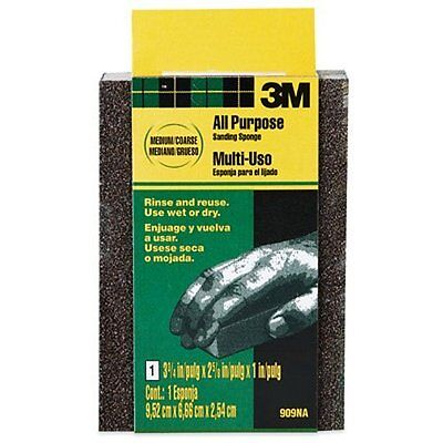 3m Small Area Sanding Sponge Mediumcoarse 3.75-inch By 2.625-inch By 1-inch