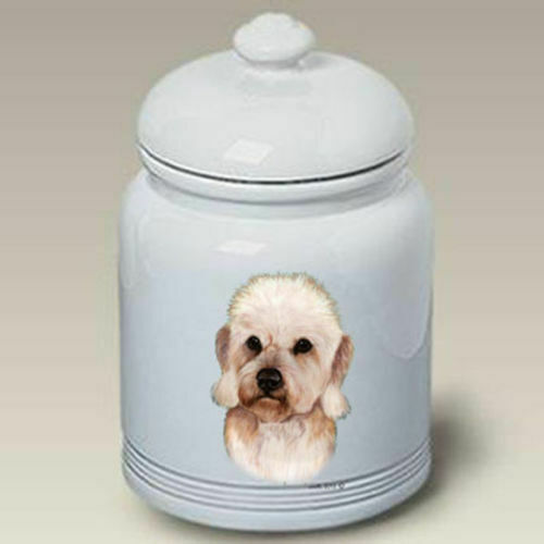 Mustard Dandie Dinmont Terrier Ceramic Treat Jar TB 34210