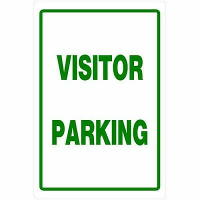 Hillman 840016 Visitor Parking Sign, White and Green Heavy Duty Plastic, 12x18 -