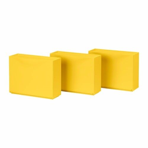 IKEA Trones Shoe Storage Cabinet Yellow x3 PERFECT 2 month old ...