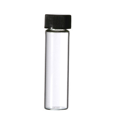 72 Pcs Clear 2 Dram Glass Vials 17mm X 60 Mm Wcaps