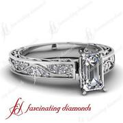 1 Ct Emerald Cut Diamond Ring
