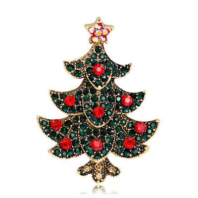 Christmas Tree Star Charm - Rhinestone Vintage Christmas Tree Star Brooch Charm  Brooch Christmas JewelryLbz
