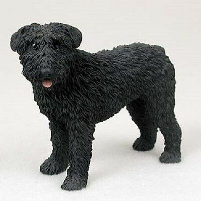 BOUVIER Dog HAND PAINTED FIGURINE Resin Statue COLLECTIBLE puppy UNCROPPED New