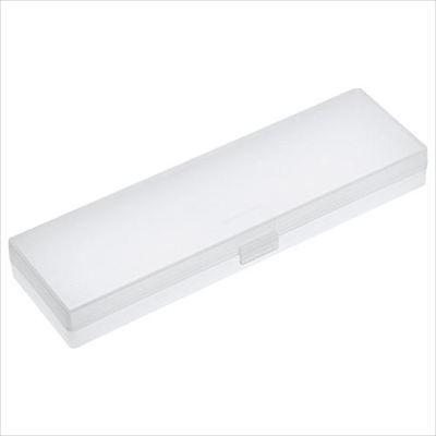 Muji Polypropylene Plastic White Multipurpose Pen Pencil Case small madein japan White Plastic Pen