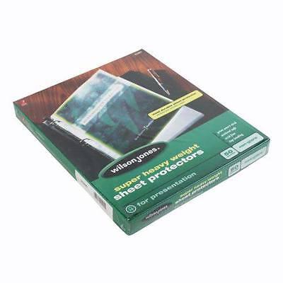 New Wilson Jones Super Heavy Duty Sheet Protector Non-glare 50pk - 21401