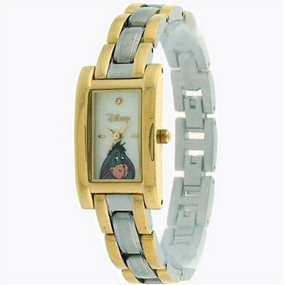 Rare Disney Women's Eeyore twotone Gold and Silver wrist Watch MU2544