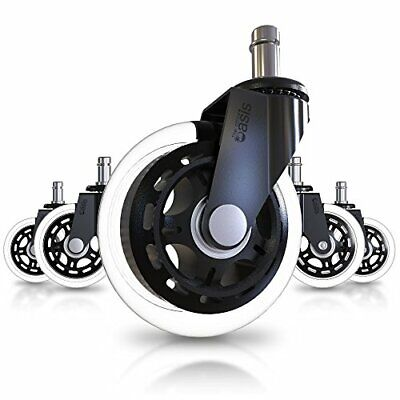 Set Of 5 Office Chair Caster Wheels - Heavy Duty Safe For All Floors
