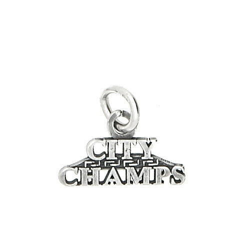 STERLING SILVER ONE SIDED CITY CHAMPS CHARM OR PENDANT