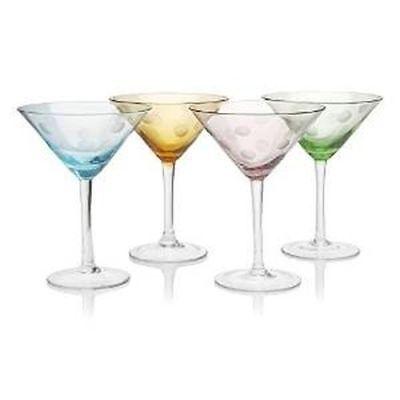 Artland Polka Dot Martini, Set of 4, 8 oz. Martini Dot