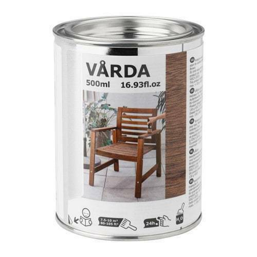 IKEA VARDA Wood Stain BROWN Outdoor Use PATIO FURNITURE 17 oz CAN New FREESHIP