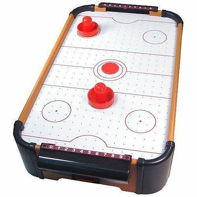 MINI TABLE TOP AIR HOCKEY GAME KIDS ACTIVITY FUN GAMES SET XMAS GIFTS
