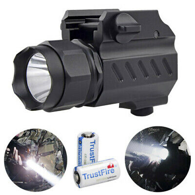 Tactical 8000LM 2Mode Pistol Gun Flashlight Torch Mount Light for Picatinny Rail